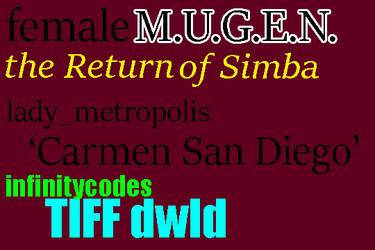 96colors 'Carmen San Diego'  lady_metropolis MUGEN by BlackrockLegacies