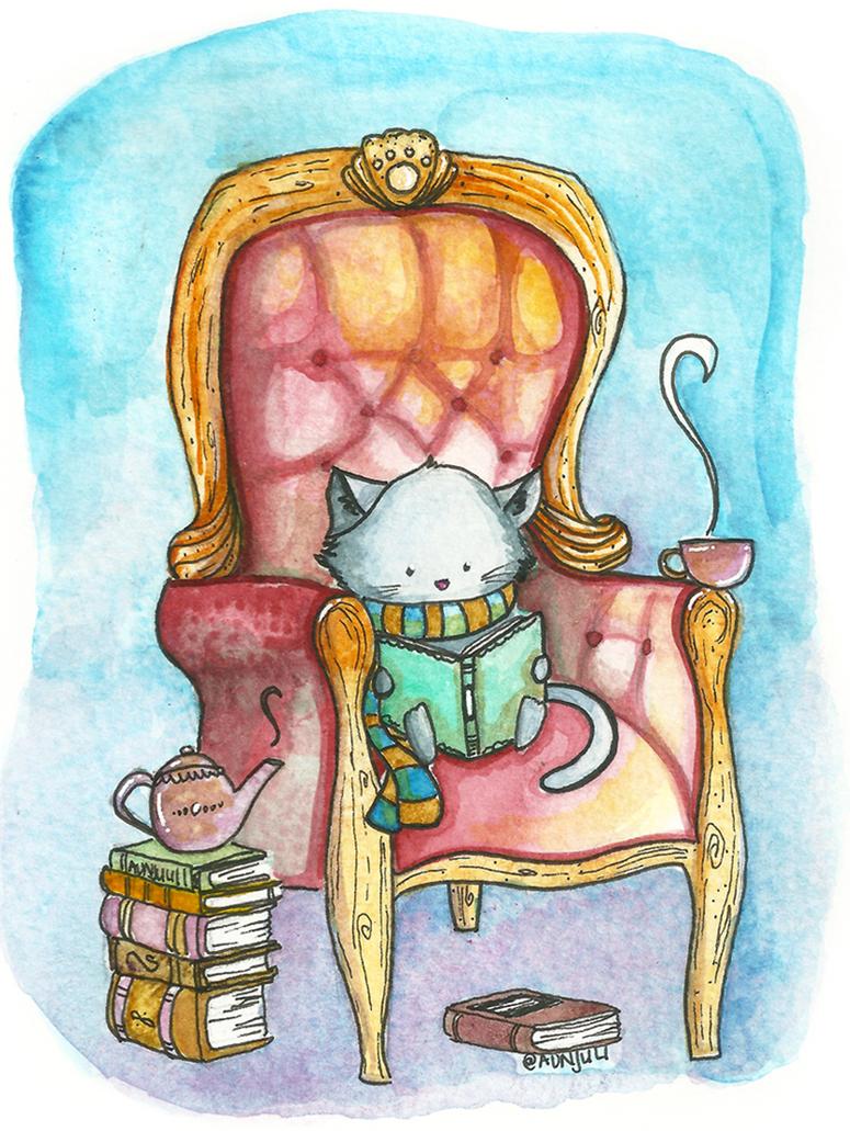 Happy Tea Cat Wallpapers by aunjuli