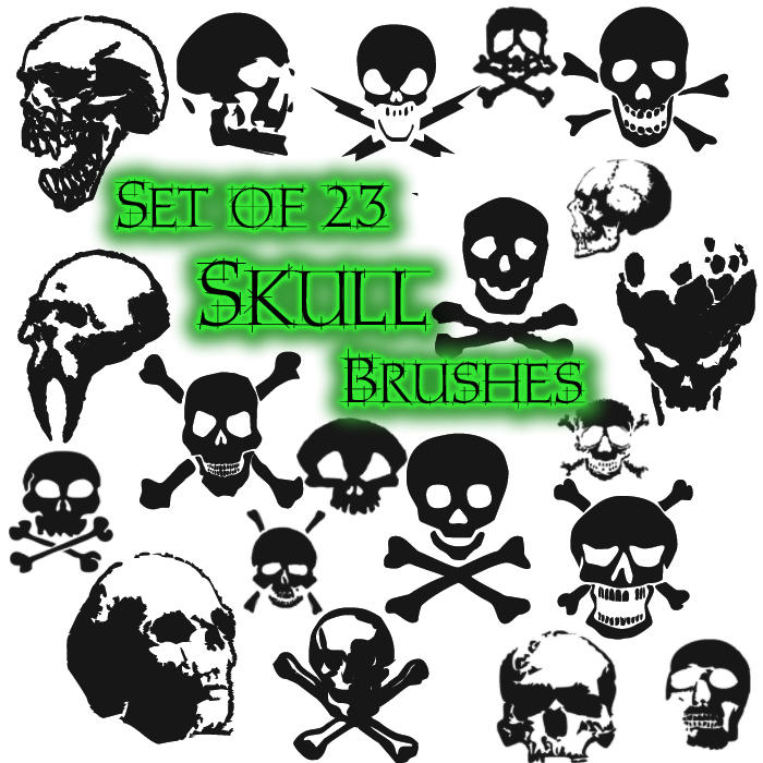 Skullz Brushes by ImFeelingThis