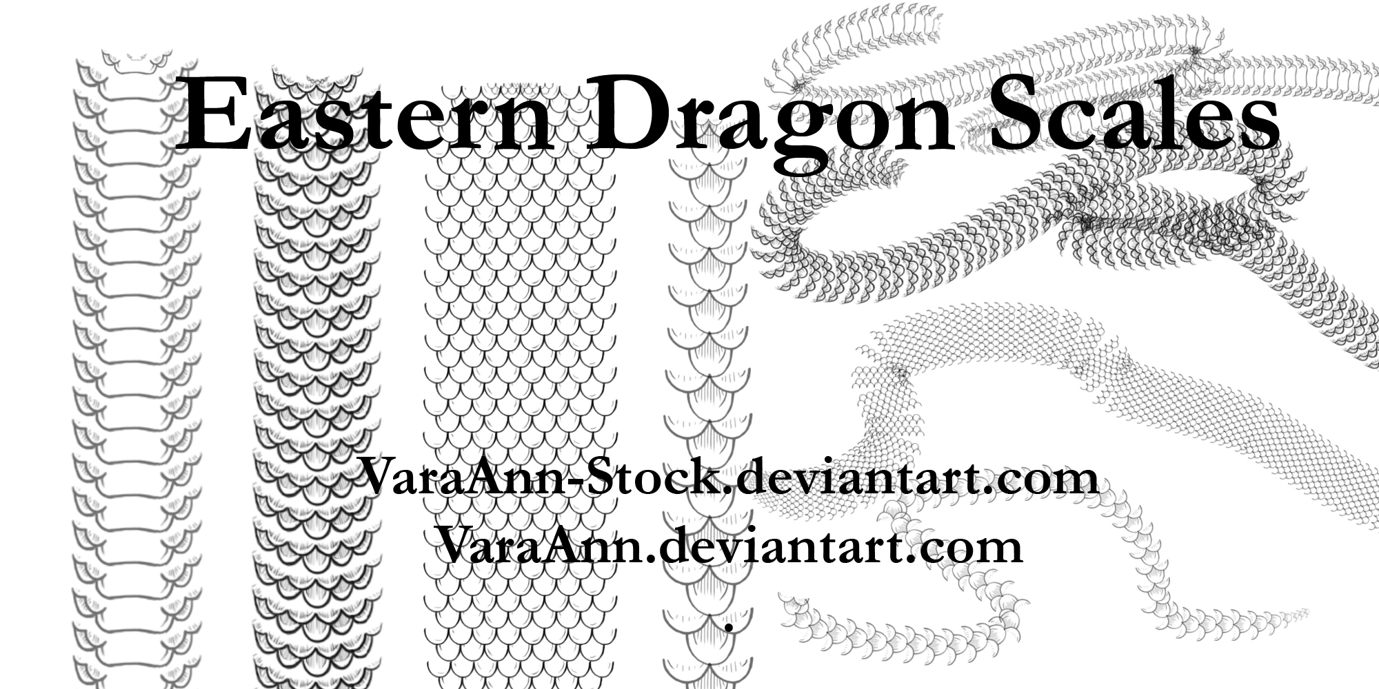 Eastern Dragon Scales Brushes by VaraAnn-Stock on DeviantArt