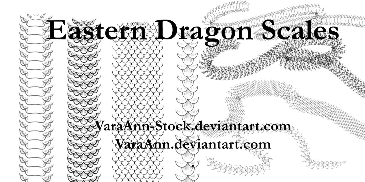 Eastern Dragon Scales Brushes by VaraAnn-Stock