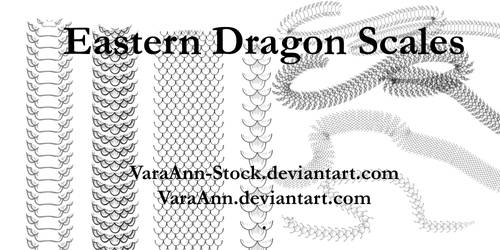 Eastern Dragon Scales Brushes