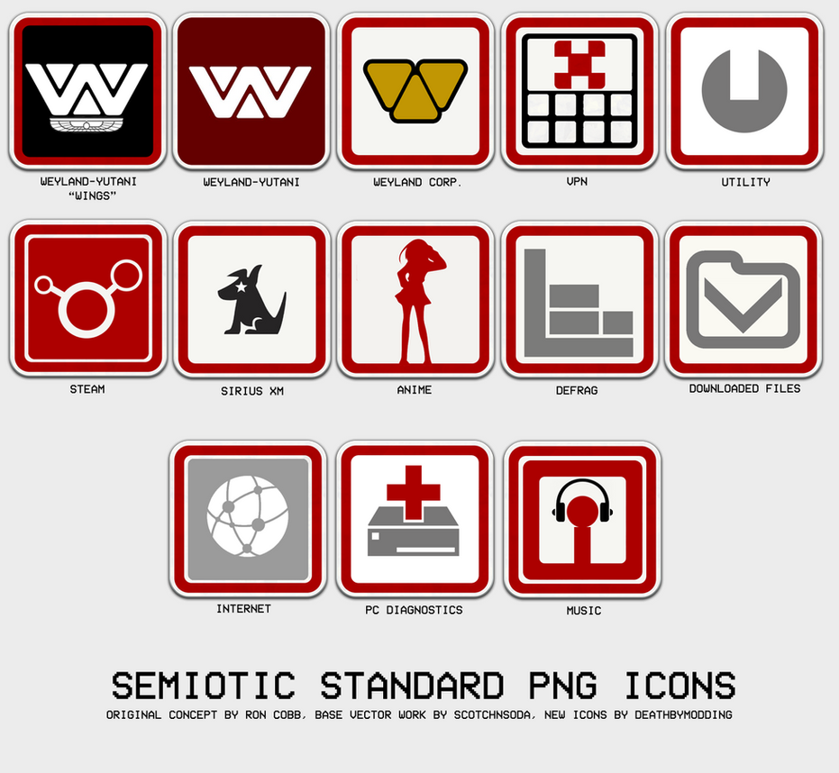 Rocketdock - Semiotic Standard Icons by Deathbymodding