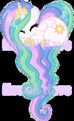 Princess Celestia sleeping heart pony