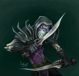 Warcraft Rogue Animated Splash Art by Bering