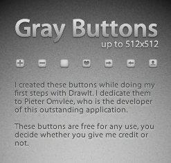 Gray Buttons by shesgoodforbusiness