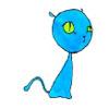 Chat bleu by angeloluha