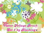 Vector Foliage Brush Set II