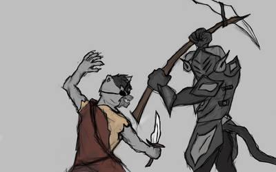 Erebus vs. Chaos (Alabastor vs. Rijard) by Iamvillain