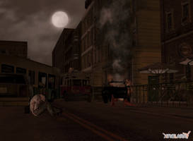 REDC - Raccoon City - street 2 by deexie