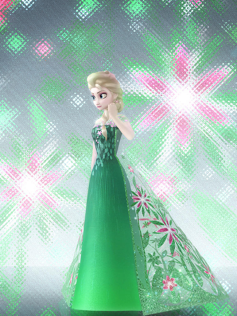 Elsa (Frozen Fever) by deexie