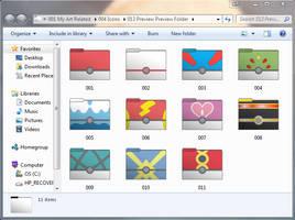 Pokeball Set 1 of 2 Computer Folder Icons