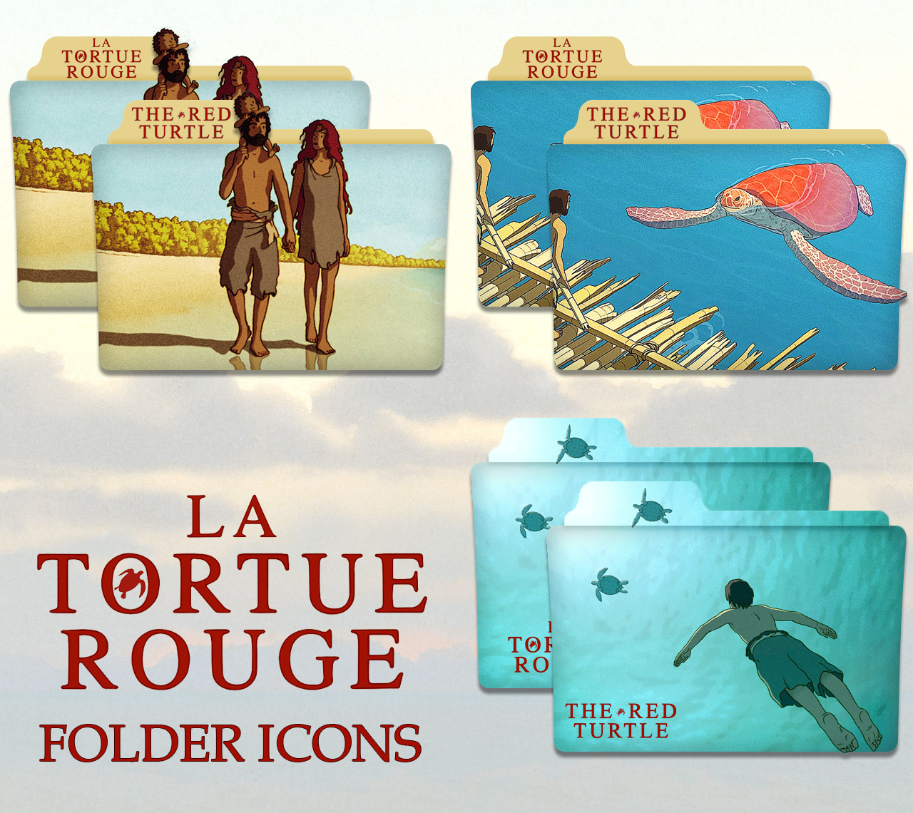 The Red Turtle La Tortue Rouge Folder Icons By Zifis On Deviantart