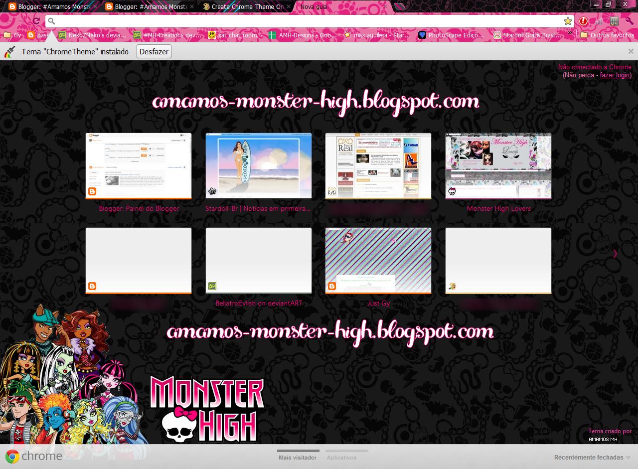 Google themes monster high -  Google Chrome Theme Monster High By Gybittencourt