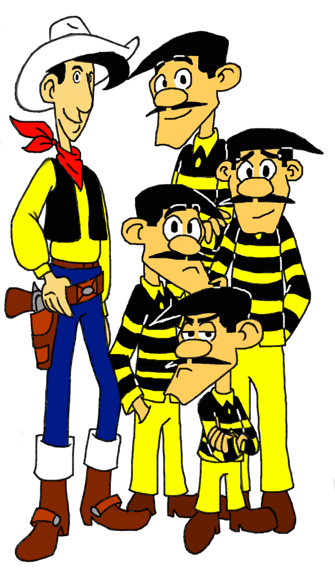 Lucky Luke And The Daltons By Metheunawesome14 On Deviantart