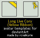 Yellow Ribbon avatar templates by rcvalkyrie