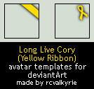Yellow Ribbon avatar templates by rcvalkyrie