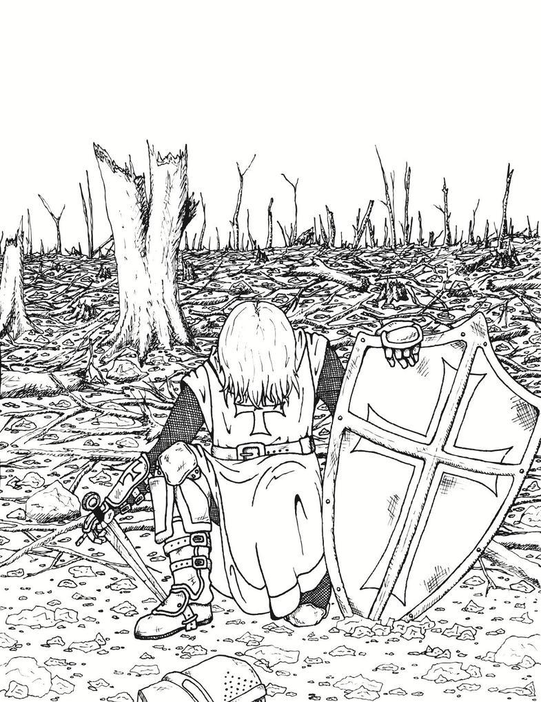 Line Drawing Knight : Knight vector line art by ofa on deviantart