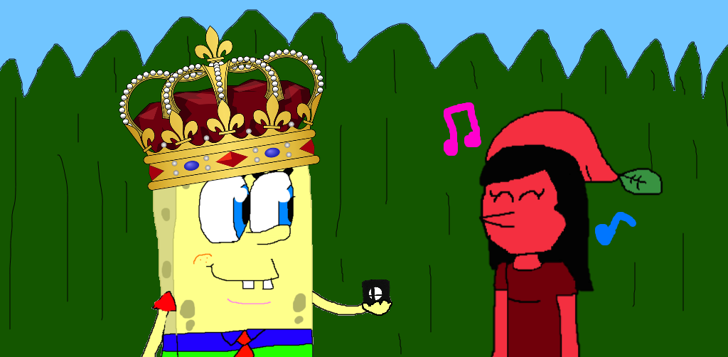 The King with the Pikmin Girl by Spongecat1