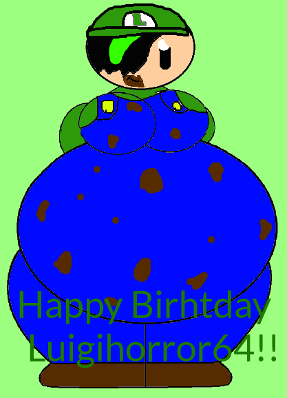 Happy Birthday Luigihorror64!! by Spongecat1