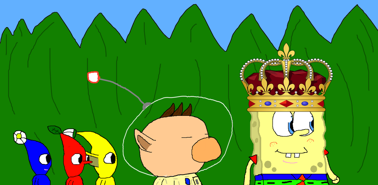 Pikmin and Spongecat1 by Spongecat1
