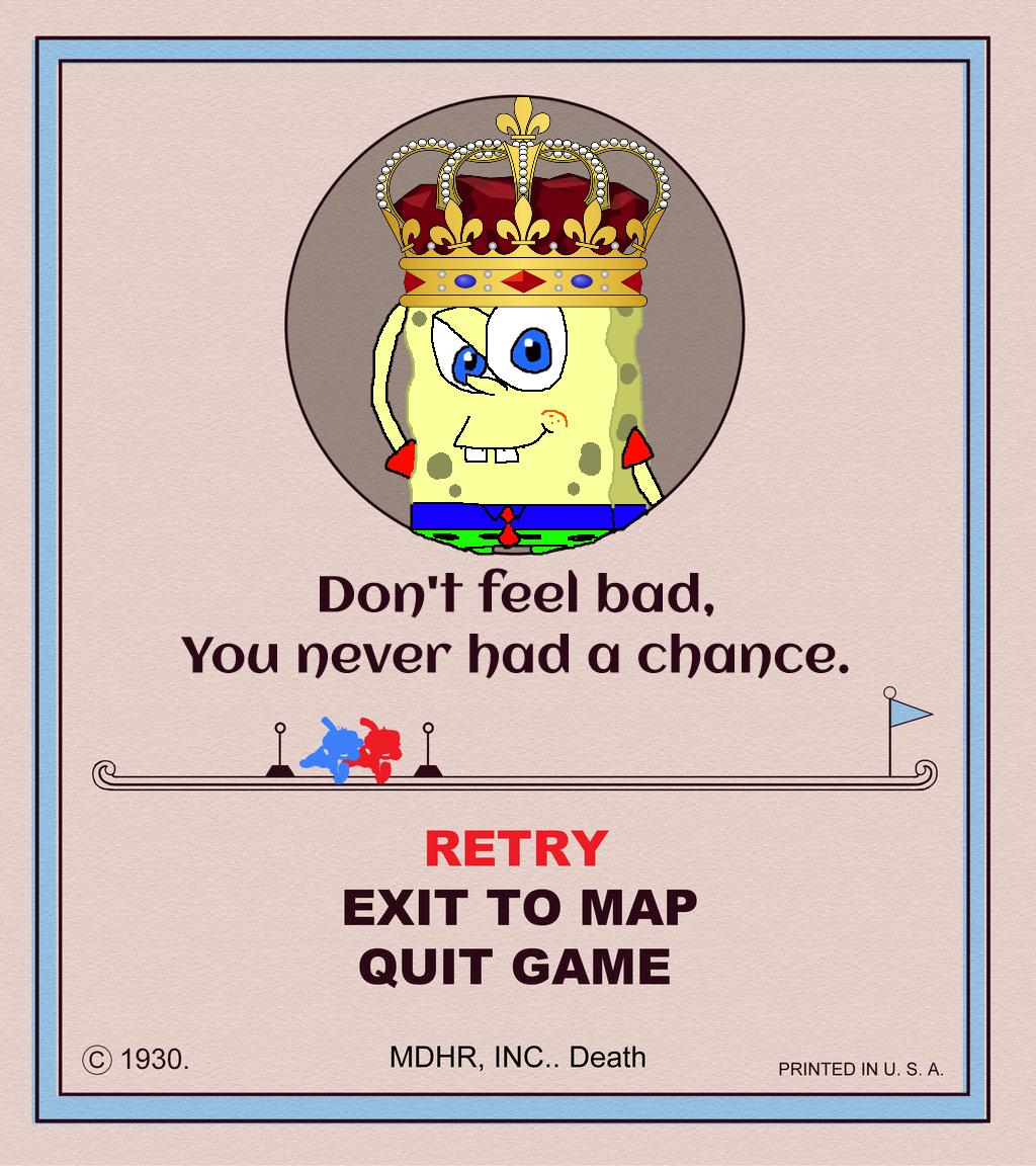 Spongecat1's CupHead Game Over Card by Spongecat1