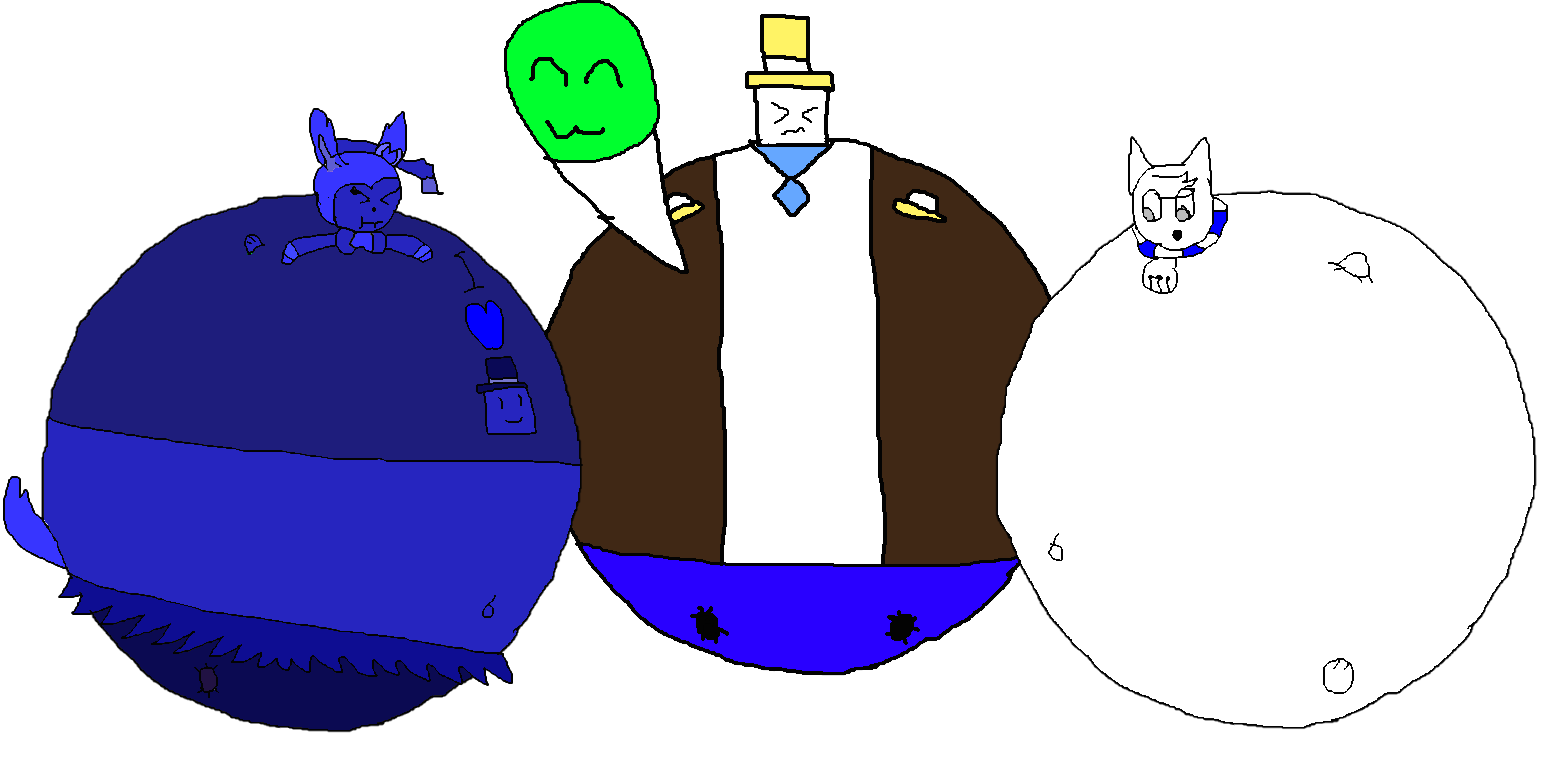 The Inflated Trio! by Spongecat1