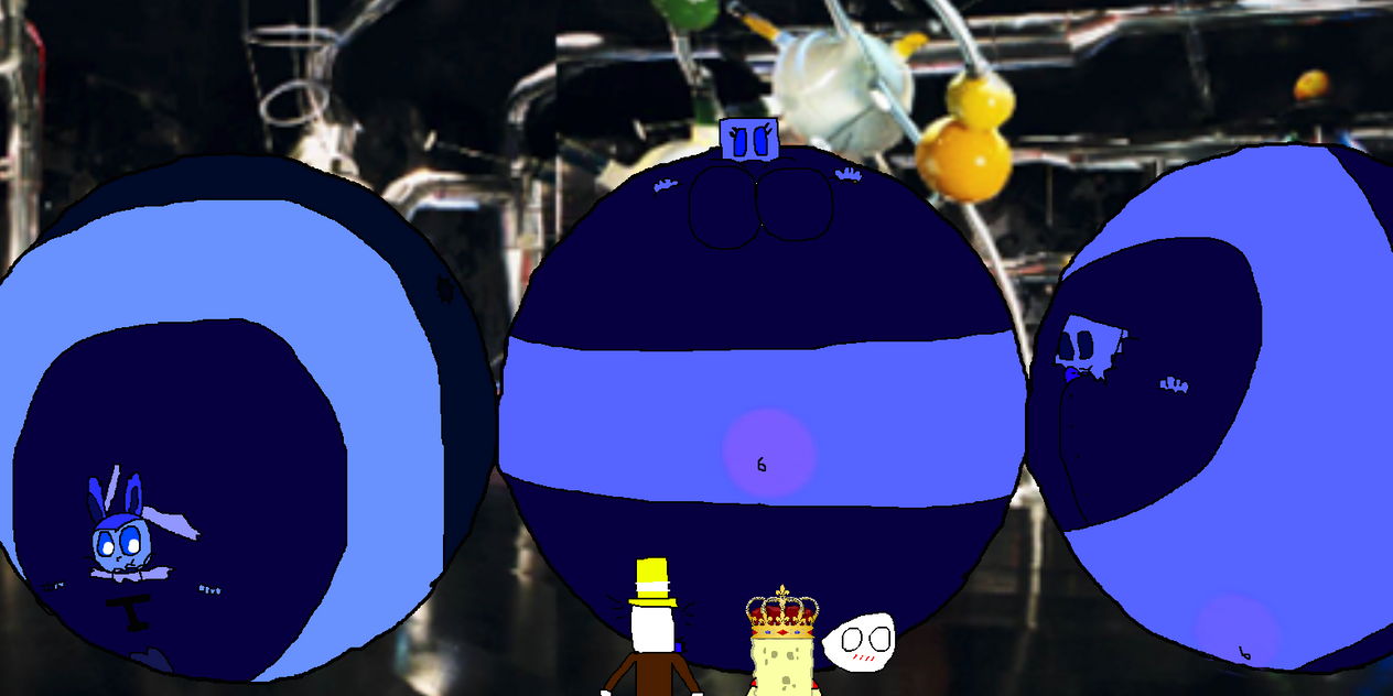 [D-G]: Three giant blueberries! by Spongecat1