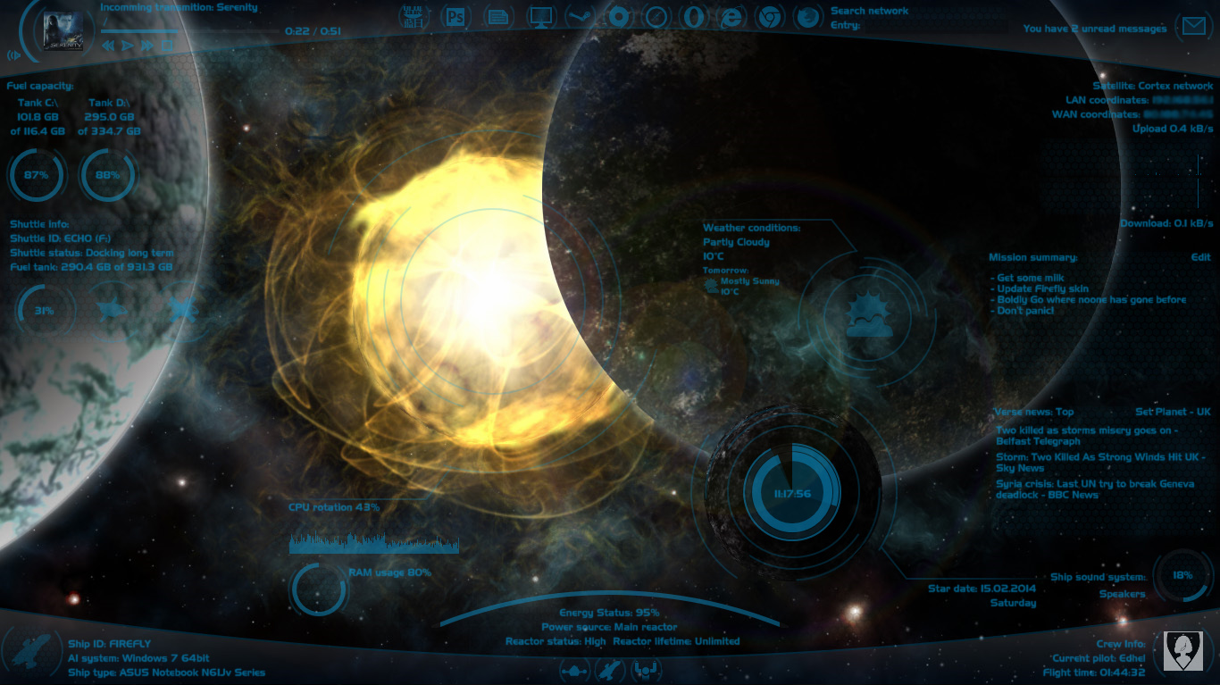 Discovery 1.4.2 for Rainmeter - in HD too by Squirrel-slayer
