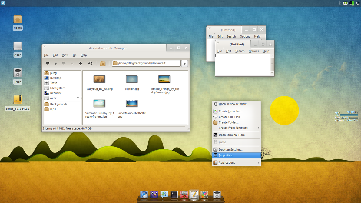 Sonar_3 for XFCE by p0ngbr