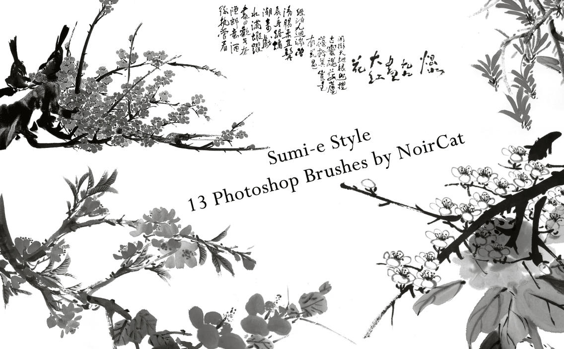Sumi-e Style Brushes by NoirCat