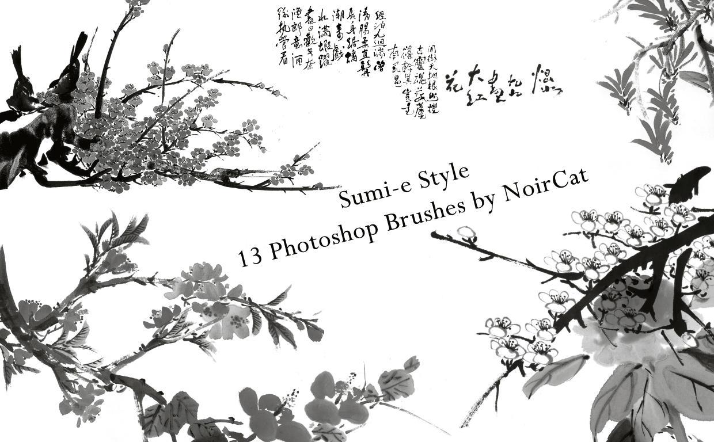 Sumi-e Style Brushes by NoirCat