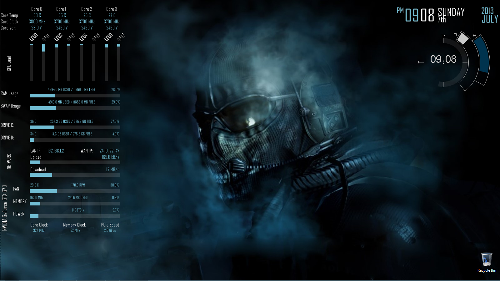 Rainmeter information overload 1 0 by gluzer on deviantart for Deviantart rainmeter