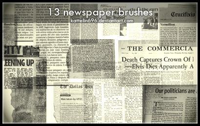 Newspaper Brushes