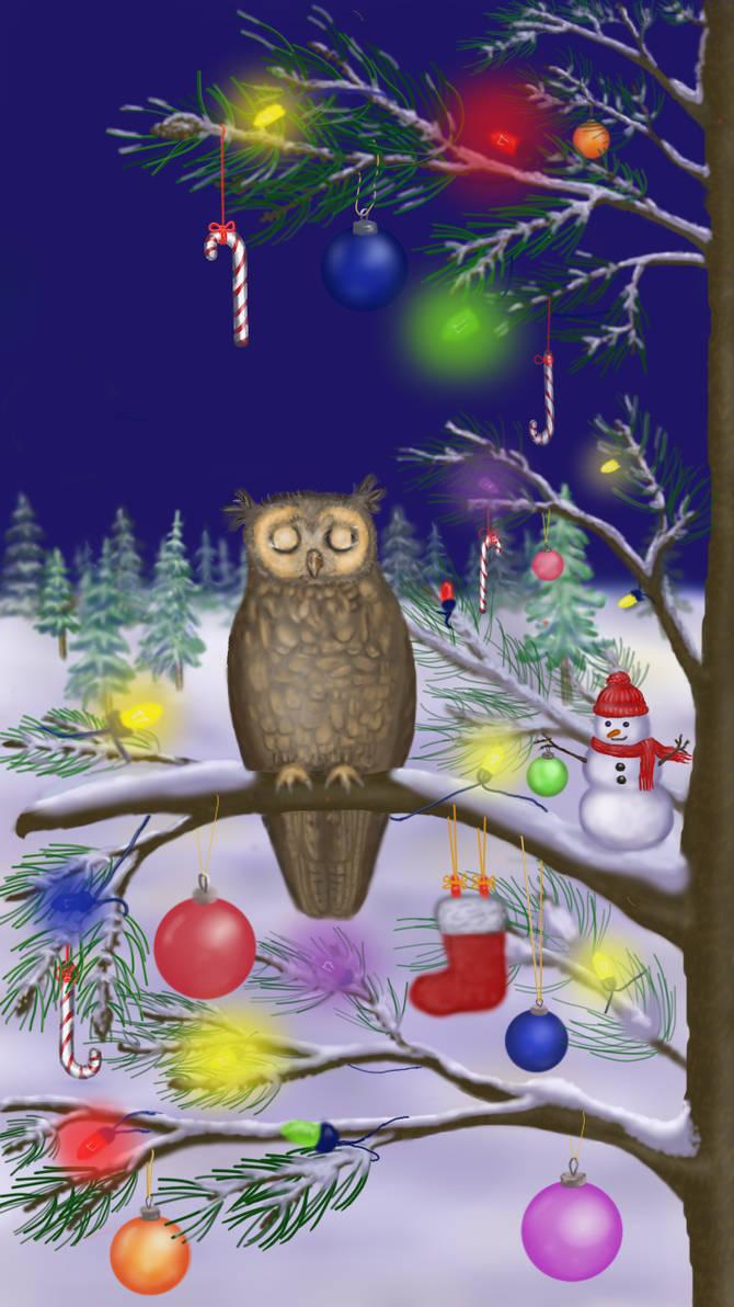 Owl of a Season - Xmas