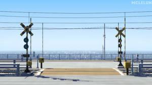 railroad crossing GIF