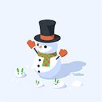 Blender3d Snowman by mclelun