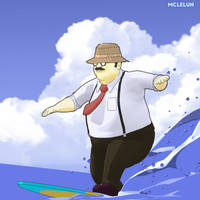 Gone Surfing by mclelun