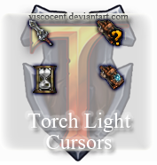 Torch Light Cursor Set by Viscocent
