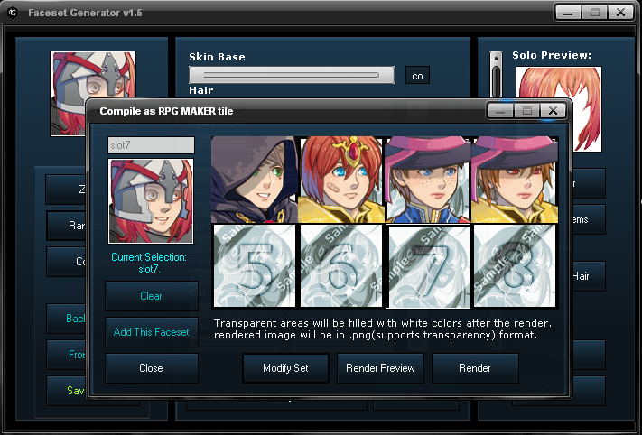 Preview Jp Rpg Maker Mv Update And New Characters: RMVX RMXP Faceset Generator By Viscocent On DeviantArt