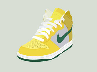 Yellow sneaker - vector by Funialstwo