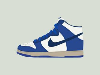 Blue sneaker - vector by Funialstwo