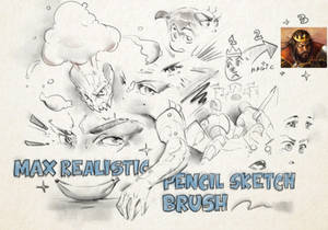 Max Realistic Pencil Sketch Brush