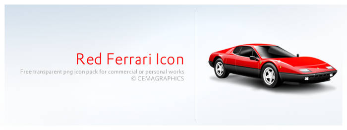 Red Ferrari Icon