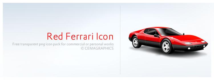 Red Ferrari Icon