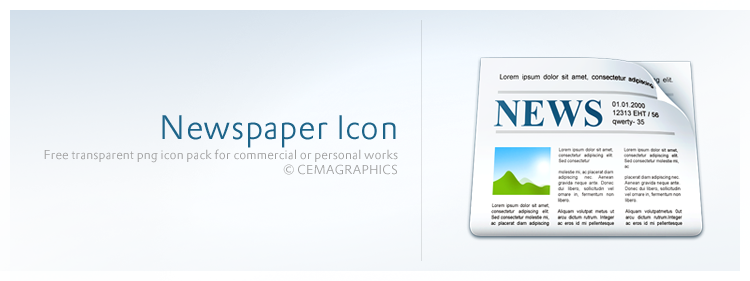 Newspaper icon by cemagraphics