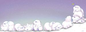 Roly Poly Polar Bears by mree