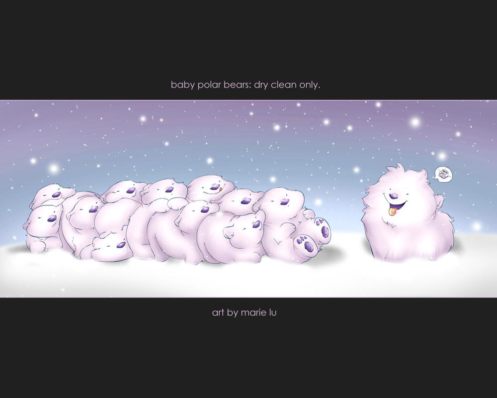 polar bears are dry clean only by mree on deviantart