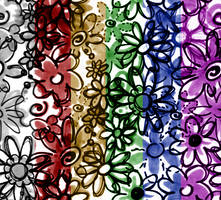 Light Floral Tile Background by turtlegirlman