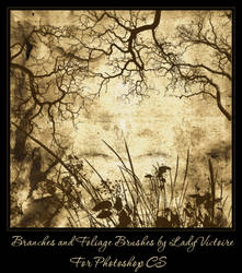 Branches and Foliage Brushes by LadyVictoire